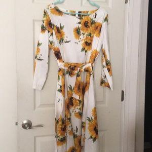 Summer stretch cotton dress